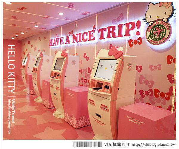 【桃園機場】桃園機場第二航廈~超粉紅!長榮HELLO KITTY自動報到室
