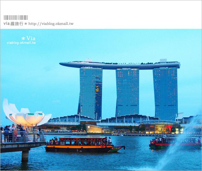 【新加坡景點介紹】新加坡必去景點~魚尾獅公園Merlion Park!夜景時最美!