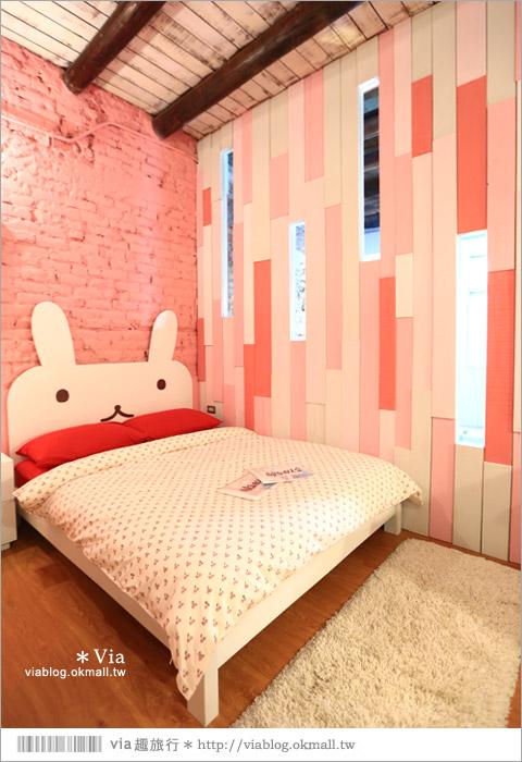【台南老屋民宿】台南阿朗基公寓*二訪*入住超粉嫩的兔子房!(加映可愛的壞東西房)(已歇業)