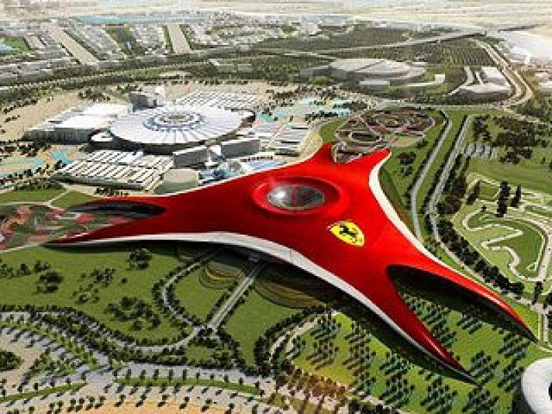 阿布達比旅遊》阿布達比法拉利主題樂園~全球最大!世界第一座法拉利主題樂園