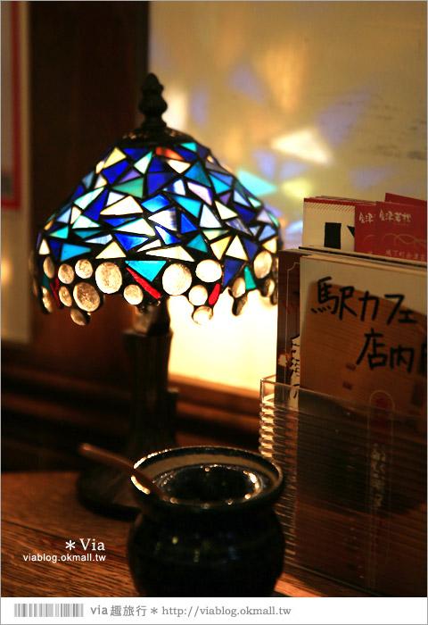 【福島咖啡館】七日町車站~駅cafe(車站咖啡館)歐風的小木屋車站好吸睛!