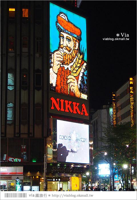 【札幌自由行】薄野商圈(すすきの)~札幌必拍的薄野撲克牌燈牆!璀燦城市的夜!