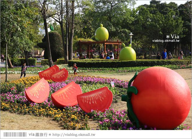 【台南百花祭】2015台南百花祭地點:水萍塭公園/化身成一座可口的甜點花園!