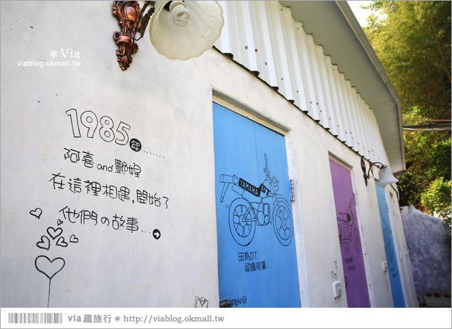 【嘉義瑞里民宿】阿喜紫藤民宿‧下午茶~主人用心照料充滿故事的歐風花園