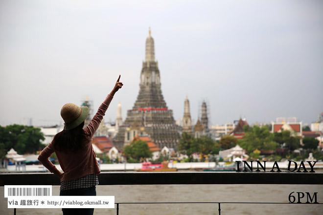 【泰國住宿】曼谷民宿推薦~INN A DAY‧文青風旅宿‧就在昭披耶河畔~河景房超美!鄭王廟就在眼前!