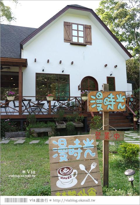 【苗栗下午茶】漫時光咖啡‧三義山城中的溫馨小木屋~可愛風下午茶推薦!