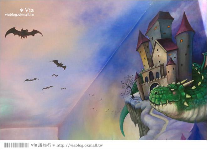 【鬥牛犬彩繪牆】彰化竹塘鄉長安國小‧校園超大的看門狗3D彩繪牆~趣味拍照的小旅點!