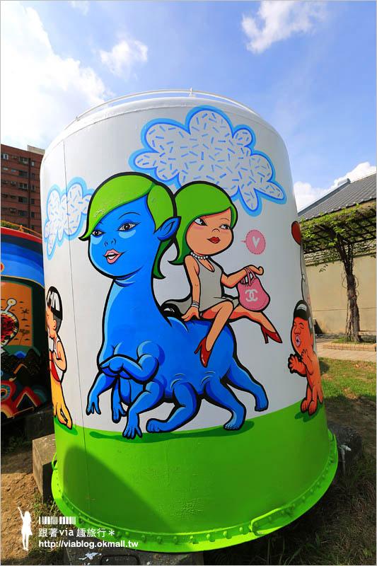 【台中文創園區】台中舊酒廠‧拍照趣~老酒桶換新妝!二十座的彩繪大酒桶超繽紛!