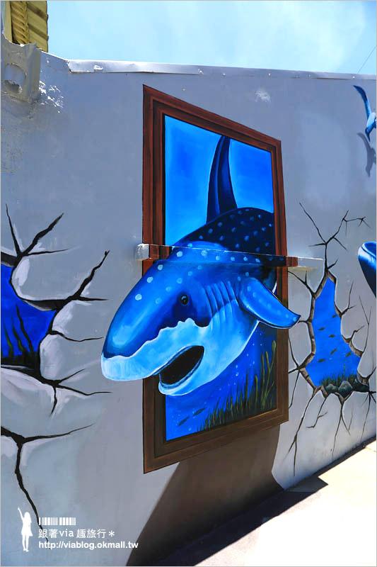【嘉義彩繪村】嘉義布袋好美里彩繪村~拍照趣!3D立體海洋彩繪好吸睛!