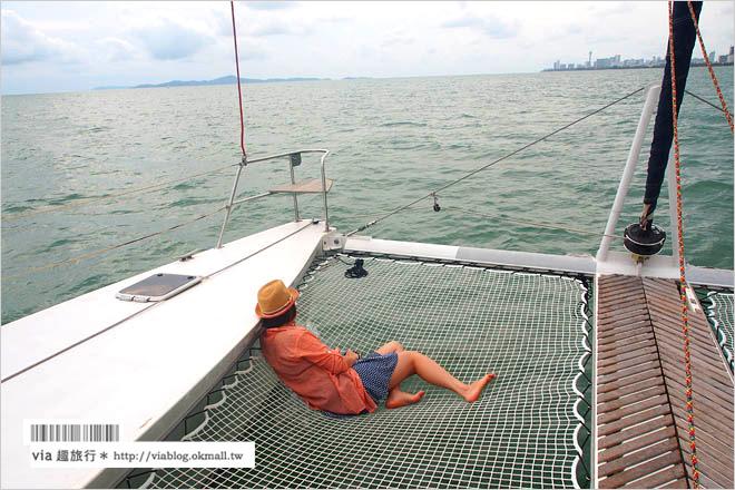 【芭達雅旅遊景點】Ocean Marina遊艇俱樂部~奢華!搭上百萬豪華遊艇出海賞夕陽!