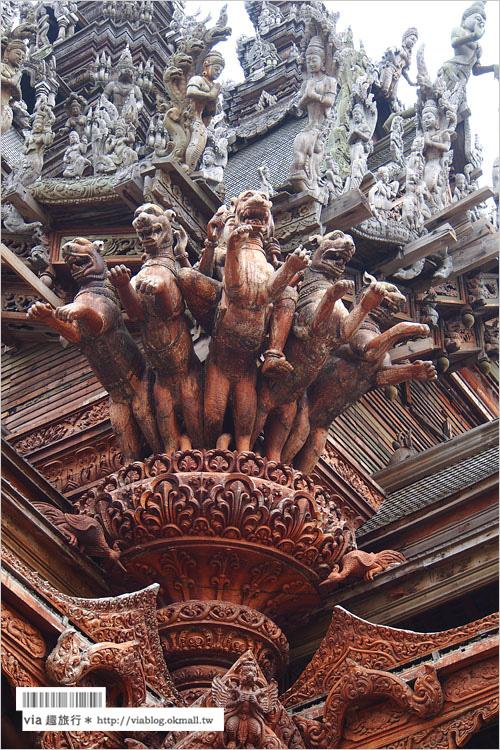 【芭達雅景點介紹】真諦聖域Sanctuary of Truth~震撼必遊!全世界最大的木雕建築!
