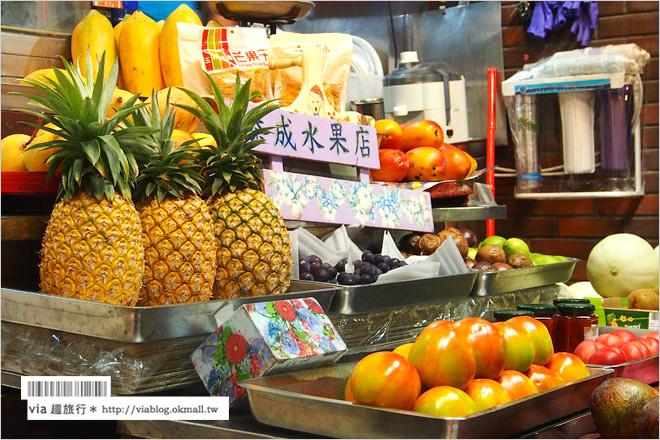 【台南冰店推薦】台南水果店~泰成水果店.超人氣的瓜瓜冰(哈密瓜冰)好好吃!