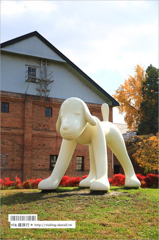 【青森旅遊景點】吉野町綠地公園「A to Z Memorial Dog」~朝聖!奈良美智的弘前犬!