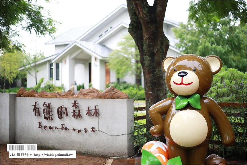 【花蓮住宿推薦】雲山水民宿~有熊的森林‧可愛熊出沒~湖畔旁的夢幻質感民宿!