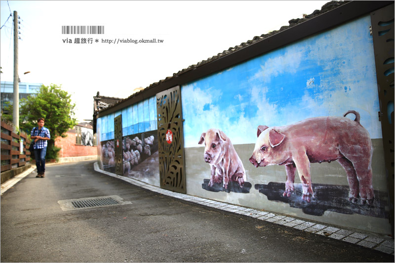 【新社景點推薦】馬力埔彩繪小徑~好拍!懷舊繽紛!濃郁台灣農村風情彩繪作品