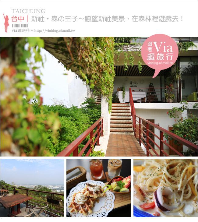 【新社餐廳】新社森的王子~安妮公主另一新作!適合親子同遊、能眺望新社美景的景觀餐廳!