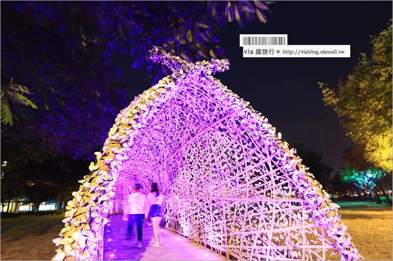 【高雄夜景】聚竹蚵地景藝術~高雄新亮點!夜間璀璨浪漫的好去處!