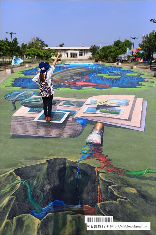 【3D彩繪村】再訪好美里~3D立體彩繪村!多了許多好拍的立體新作品!