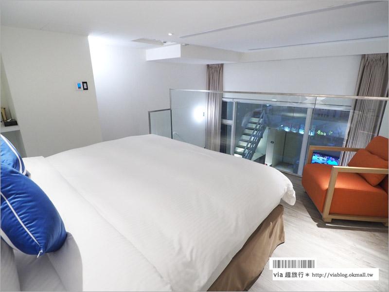 【台中逢甲住宿】逢甲7 Hotel福星旅店~近逢甲夜市,樓中樓挑高房型好樂活