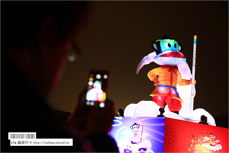 【2016台中燈會】台中燈會台中公園燈區~猴福齊天‧大聖台中!大嘴猴俏皮陪伴過元宵!