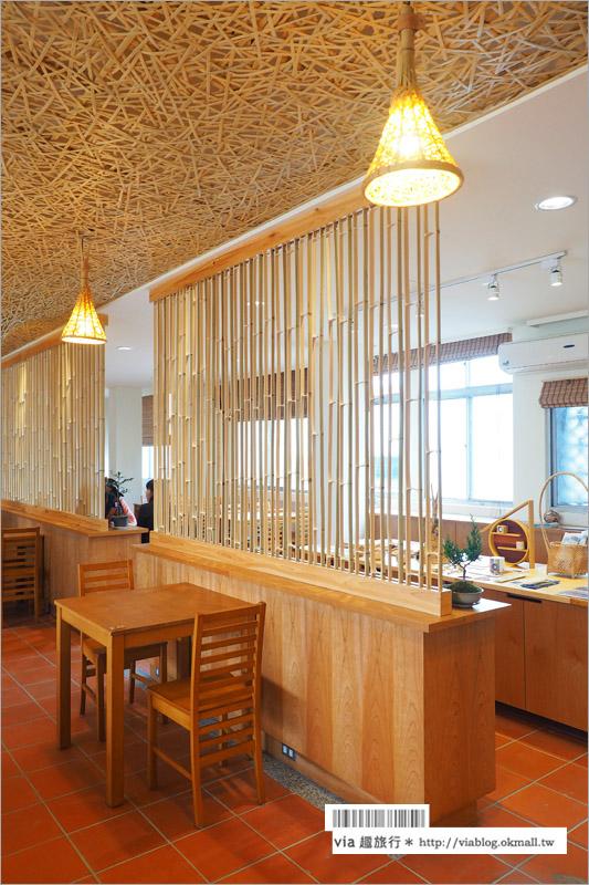 【竹山美食推薦】竹青庭人文空間/小鎮裡的新亮點‧竹山台西客運站~竹編餐廳別緻又好吃!