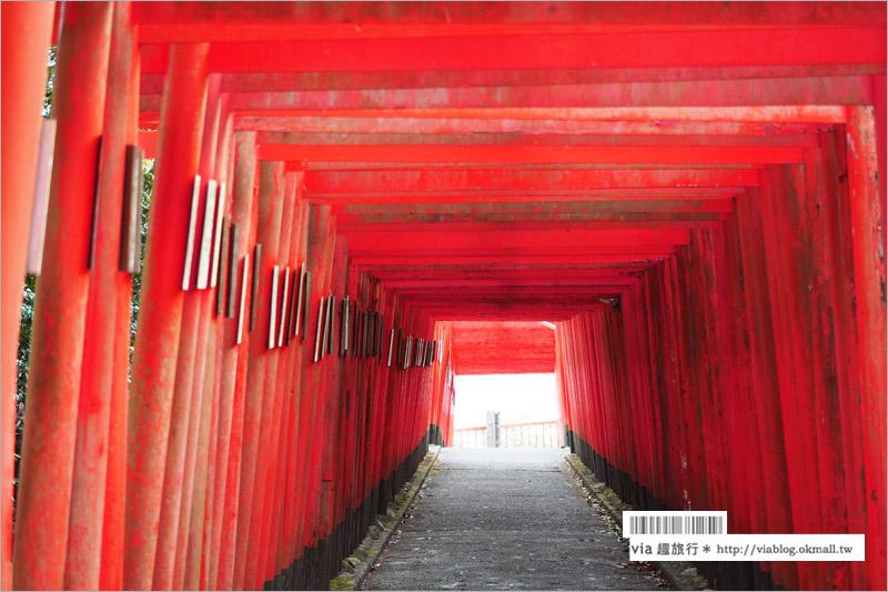 【大分旅遊景點】扇森稻荷神社~九州迷你版的紅色千鳥居,竟然在大分鄉間遇見了!
