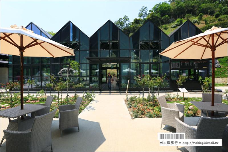【苗栗旅遊景點】雅聞觀光工廠‧七里香玫瑰森林~苗栗新玩點報到!玻璃屋好吸睛!