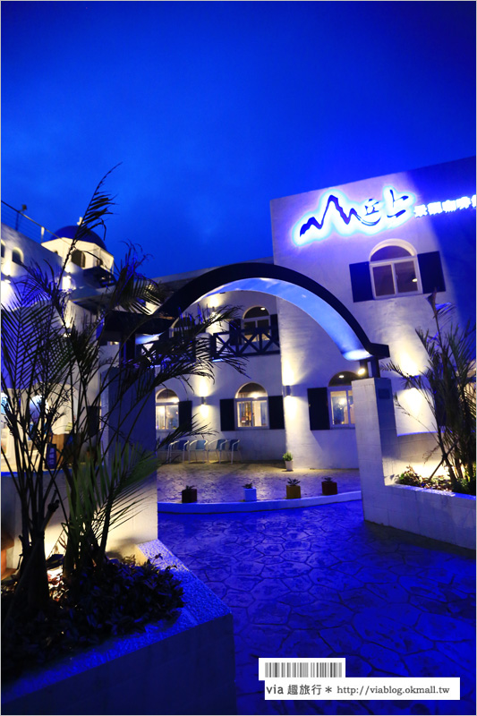 【山丘上景觀咖啡館】新竹景觀餐廳新登場~地中海風格設計、眺望城市夜景好迷人!