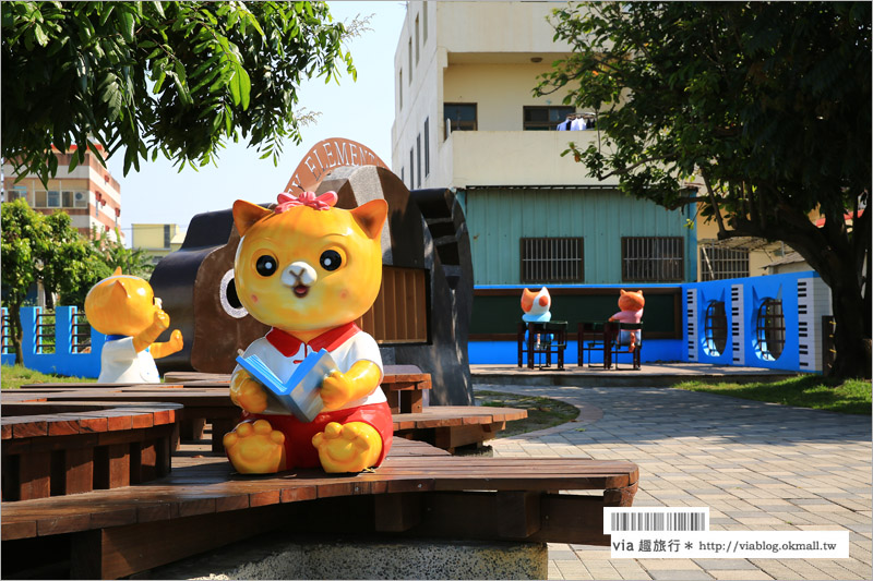 【雲林旅遊景點】雲林屋頂上的貓~頂溪貓彩繪村的新亮點:『貓咪小學堂』開課囉!