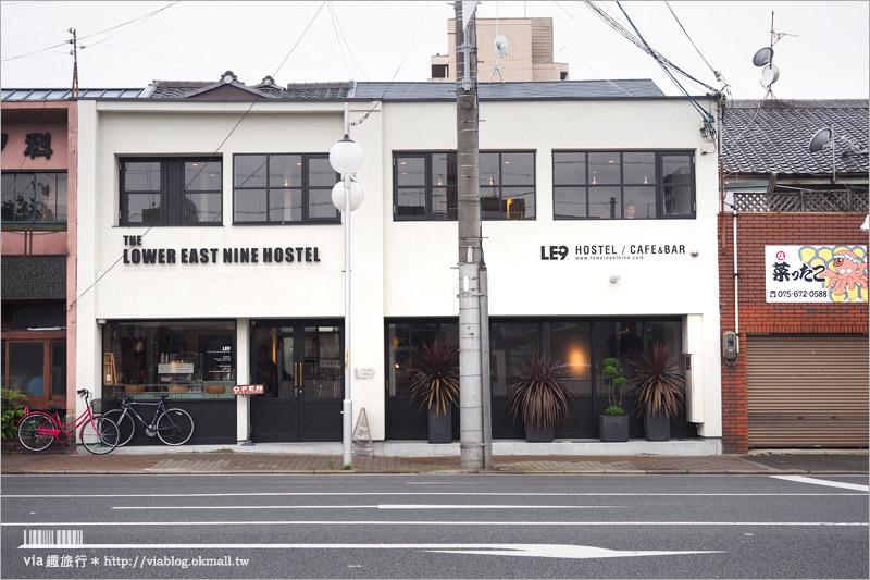 【京都平價住宿】推薦!The Lower East Nine Hostel(下東九青年旅館)~就像住進咖啡館!地鐵站旁、離京都車站近!