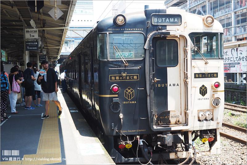 【九州觀光列車】指宿之玉手箱~看得見海的鐵路!有著浦島太郎傳說的黑白色車廂、親子同遊的好選擇!