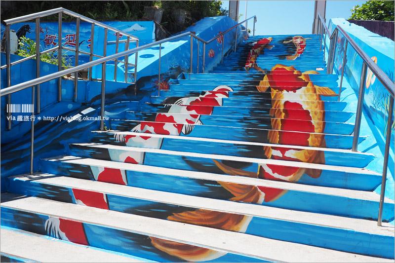 花蓮景點》福天宮彩繪階梯~力爭上遊階梯好吸睛+北濱公園的無敵海景~