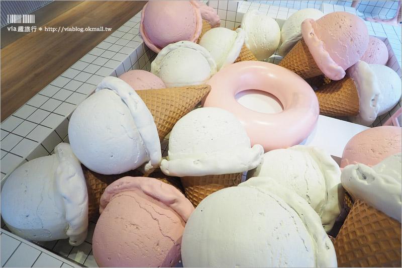【台中冰店推薦】I`m Talato/我是塔拉朵義式冰淇淋~冰淇淋跌入泳池裡!全台最粉嫩的泳池在這!