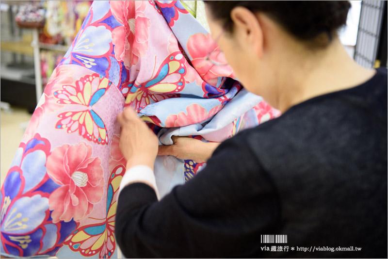 【京都和服出租】花かんざし(花簪)浴衣/和服體驗~有中文!款式價位任選~一起來去變身京都美人!