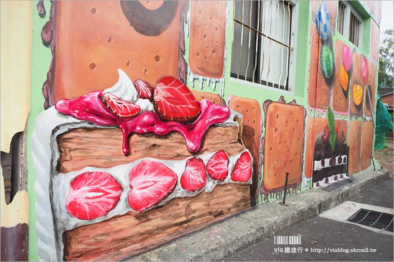 【台中景點】東豐自行車道 九房童話世界~走進大型的童話3D彩繪,互動拍照樂趣多!