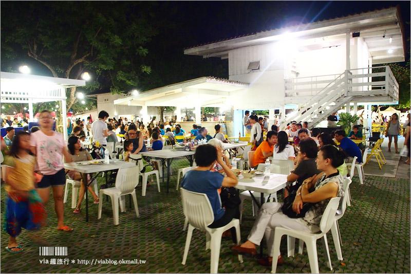 【華欣夜市】華欣蟬鳴假日創意市集Cicada night market~文青風情的白色市集,優雅的好浪漫!