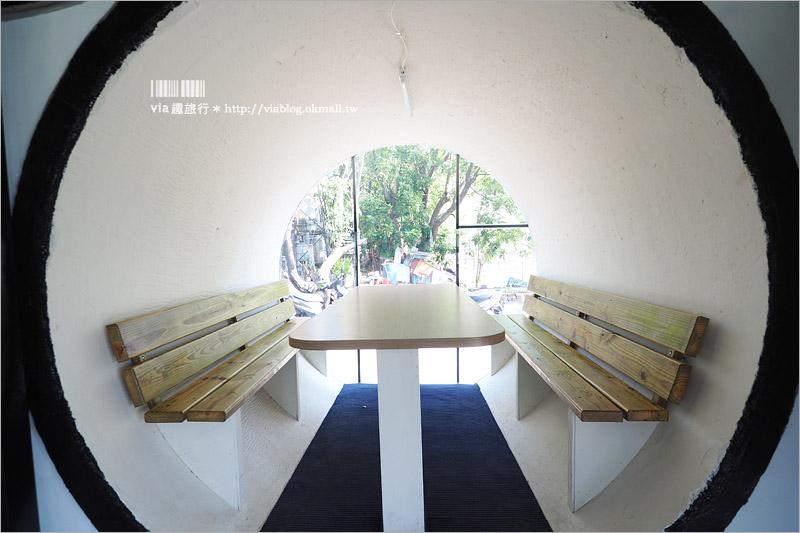 【彰化水管屋】花壇|別有洞天水管餐廳~全新打造!一大片的水管牆好吸睛!