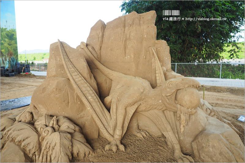 【南投沙雕】2017南投國際沙雕藝術園區~栩栩如生的國際沙雕作品!全年都可以來欣賞!