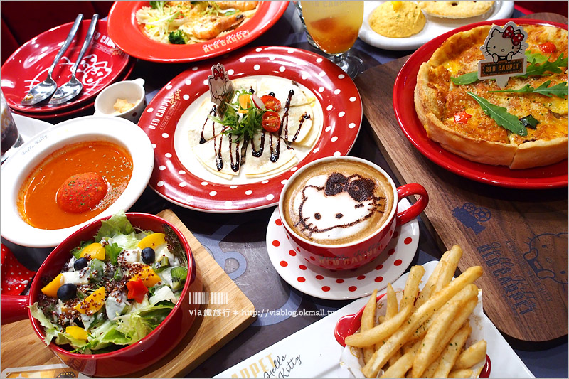 【Kitty餐廳】林口三井OUTLET餐廳|Hello Kitty Red Carpet美式餐廳~復古電影造景!重現好萊塢大明星風味好好拍!