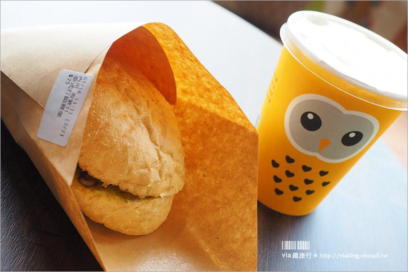 【台中早午餐】貓頭鷹吐司早午餐~文心森林公園旁可愛早餐店!貓頭鷹陪你享用早午餐囉!