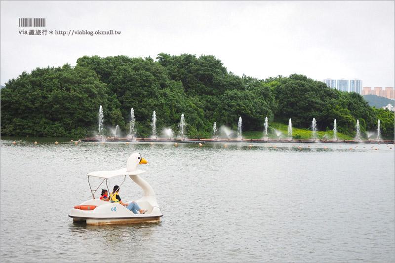 【澳門新旅遊景點】南灣湖.雅文湖畔~文創風小店市集+搭天鵝船欣賞壯觀的澳門塔美景
