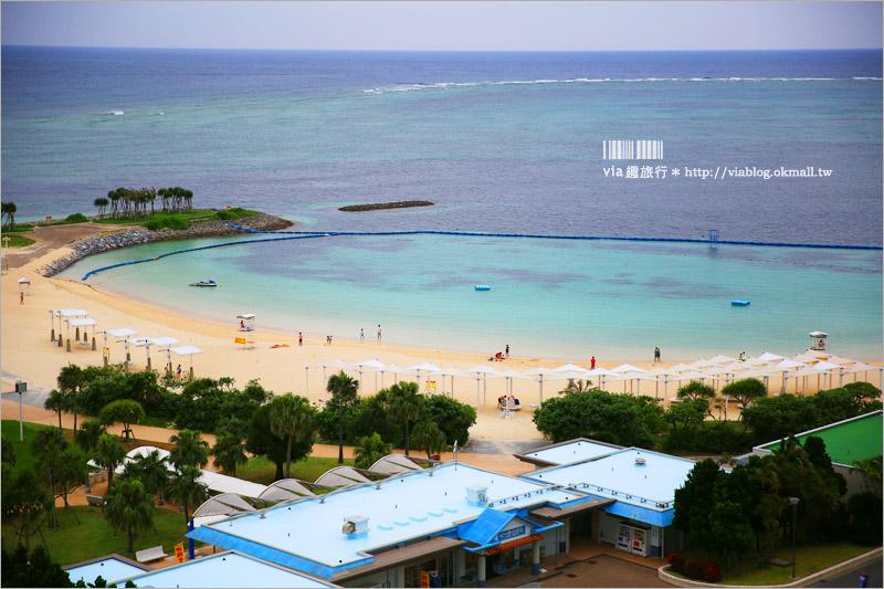 【沖繩海景飯店】推薦!Orion本部渡假SPA飯店(Hotel Orion Motobu Resort & Spa)~翡翠沙灘的夢幻海景+空間超大的渡假房型!