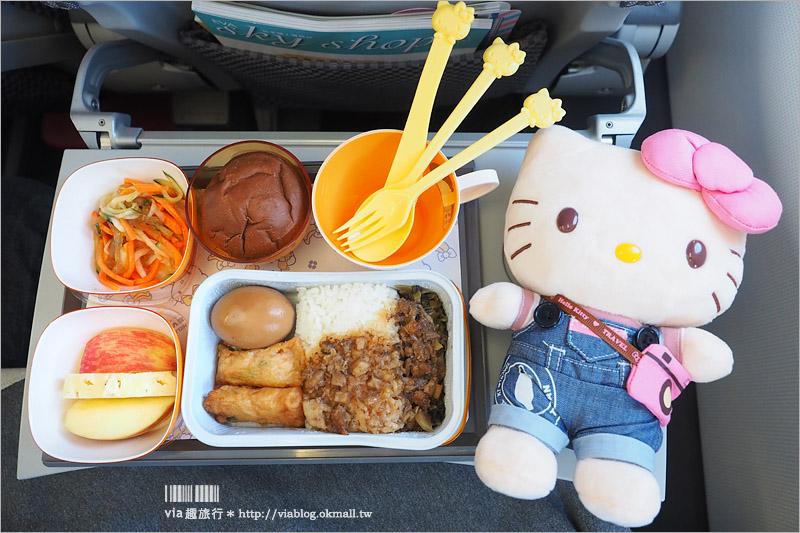 【長榮Kitty機】長榮最新Kitty彩繪「友誼機」~每日往返大阪、沖繩!Via機上完全記錄篇!