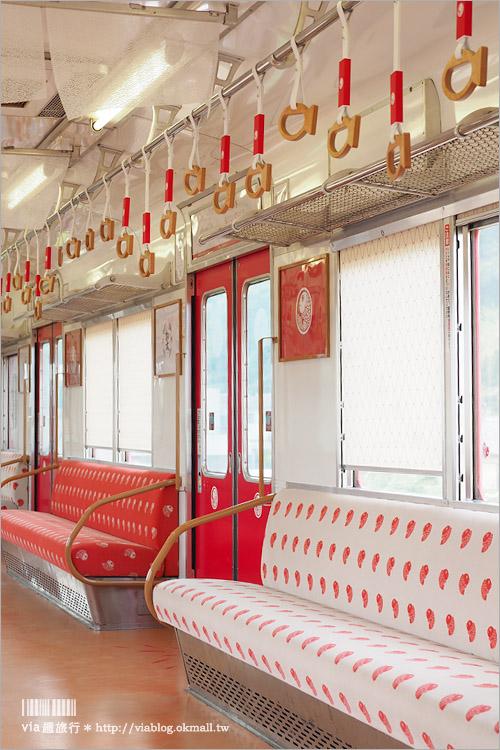 【和歌山遊記】加太‧吉慶鯛魚電車(めでたい電車)~全粉紅色的夢幻電車!女孩們快來旅行吧!