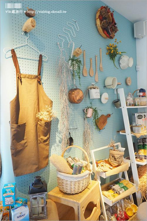 【台中餐廳】姐妹聚餐推薦~日許時間‧優雅藍調雜貨牆好美!義大利麵也美味可口喲!