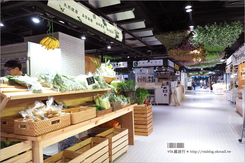 【台中第六市場】買菜不流汗!全台第一個開在百貨公司裡的菜市場~開幕前搶先看!