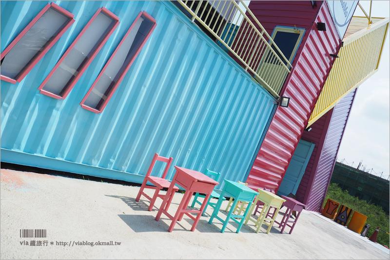 【彰化餐廳】親子餐廳來囉~KoKoMo私房惑櫃‧彩色貨櫃屋餐廳再一發!彩色大K好好拍!