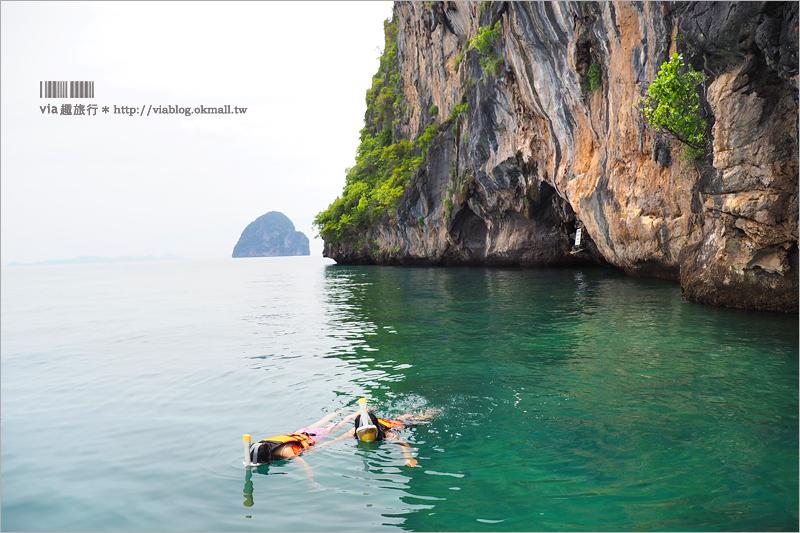 【泰國自由行】蘭塔島一日遊行程~出海旅行!一天跳四島浮潛趣,秘境翡翠洞好驚豔!