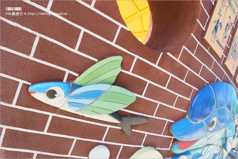 【台中景點】頂魚寮公園~新免費親子景點!繽紛海洋3D立體彩繪+彩虹木椅+鯨魚溜滑梯好促咪!