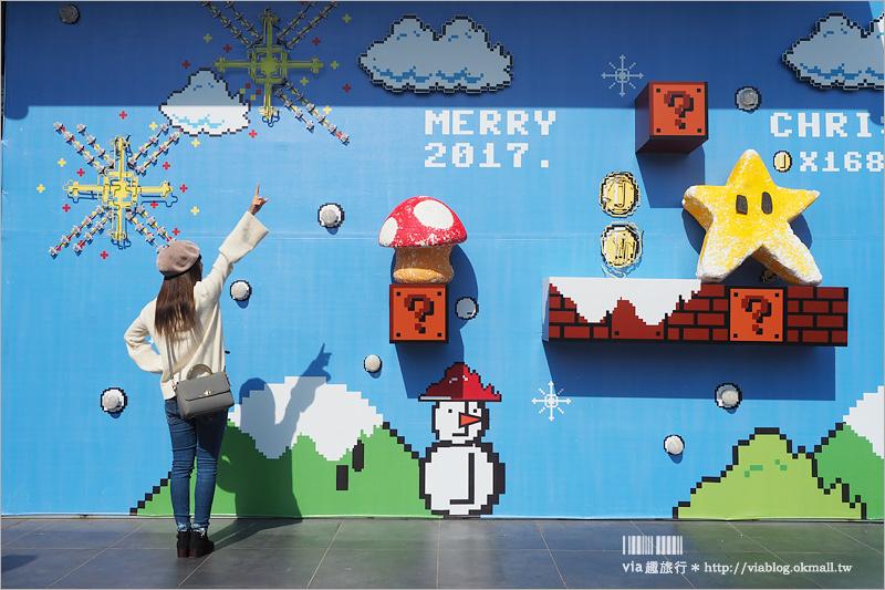 【嘉義瑪莉歐牆】新IG打卡點來囉~瑪莉兄弟牆太有趣!撞金幣、鑽水管~充滿童年回憶啊!(已拆除)
